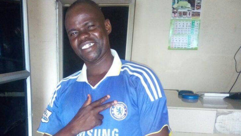 Aminu Mai-unguwa Chelsea, a Chelsea FC fan.