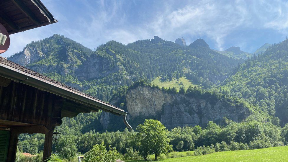 View of the mountain from Claudia Schmid's house