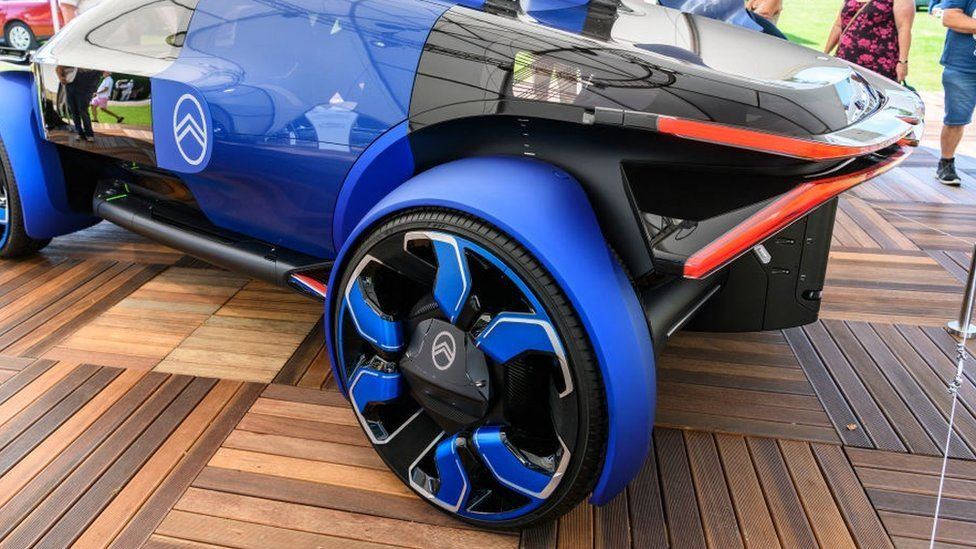 Citroën 19_19 Concept futuristic all electric concept car on display at the 2019 Concours d'Elegance at palace Soestdijk on August 25, 2019 in Baarn, Netherlands.