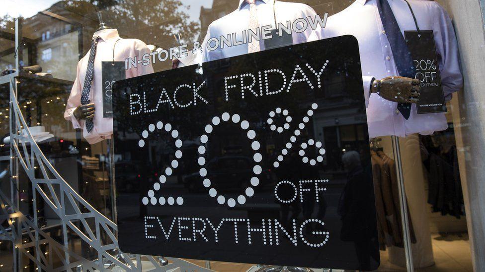 Black Friday shop window