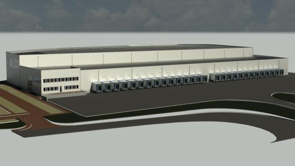 CGI of expanded distribution centre in Bathgate