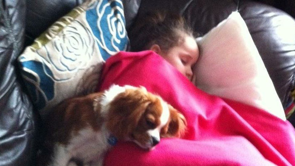 Mia Thorne with her dog