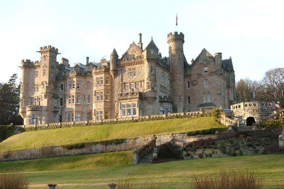 Exterior of Skibo Castle during Skibo Castle in Inverness, where Madonna And Guy Ritchie's held their wedding reception