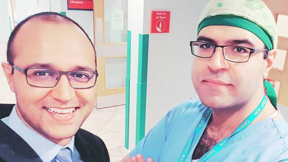 Saied Froghi, right, with his brother Farid Froghi, a surgery research fellow
