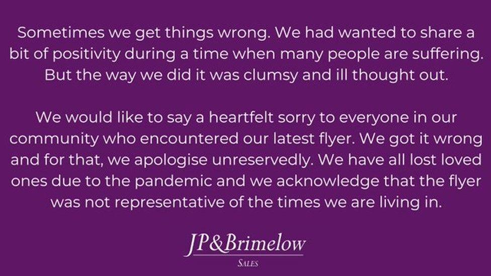 JP & Brimelow apology