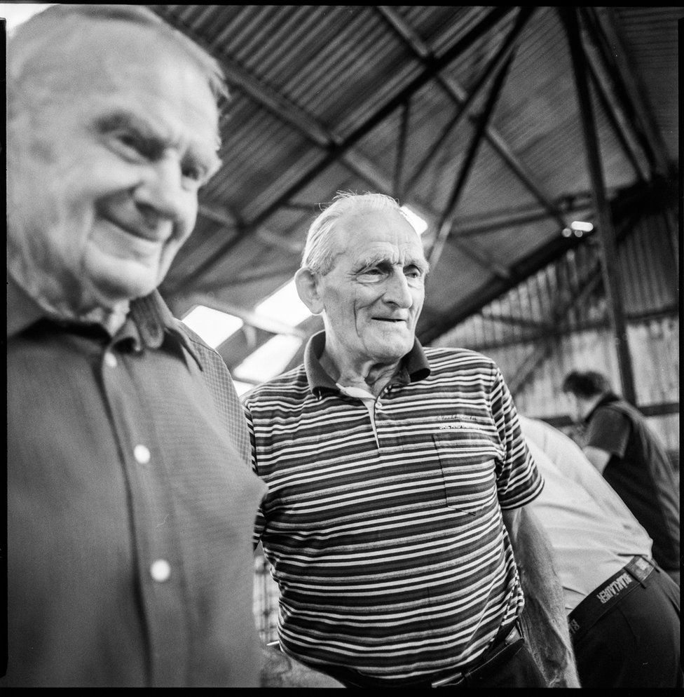 Two men in Bandon Mart