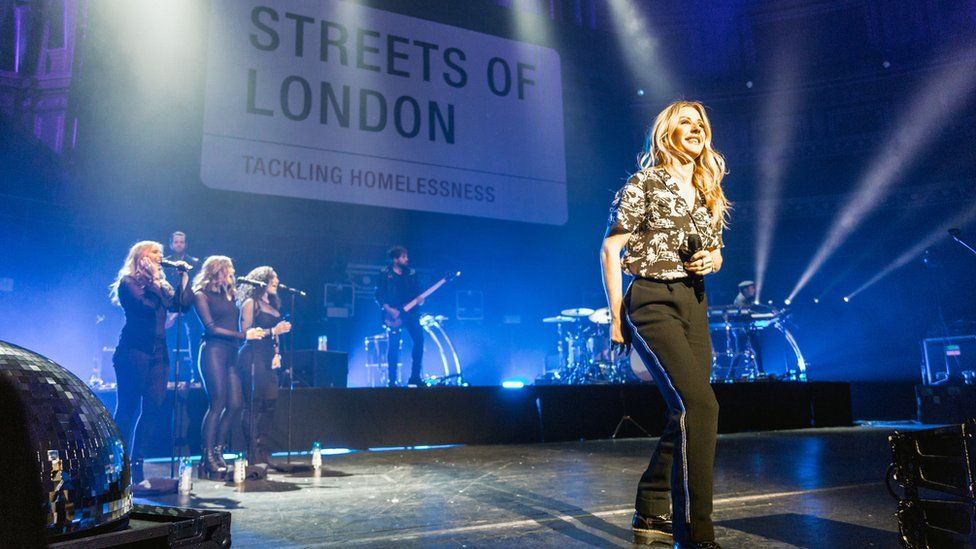Ellie Goulding performed at the Royal Albert Hall in aid of Streets of London in 2017