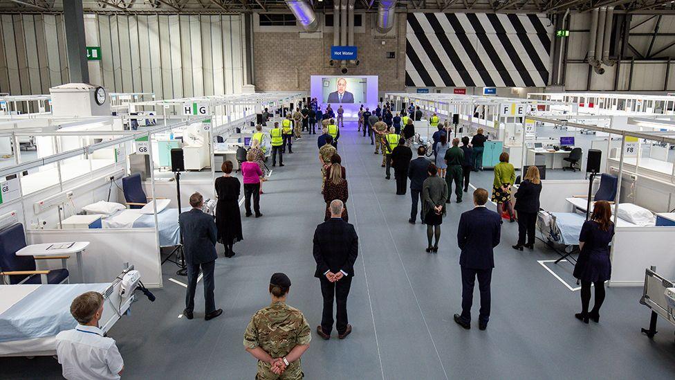 Prince William opens the NHS Nightingale in Birmingham