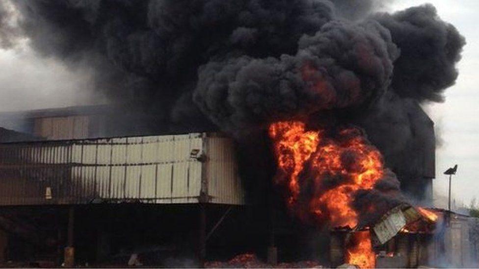 Fire in factory