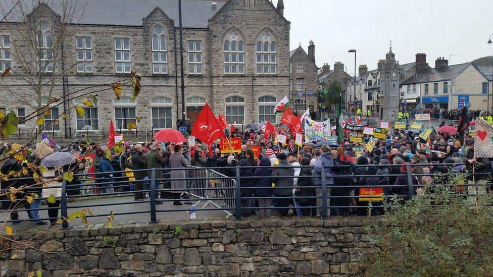 """Celebrating Diversity"" campaigners in Llangefni"
