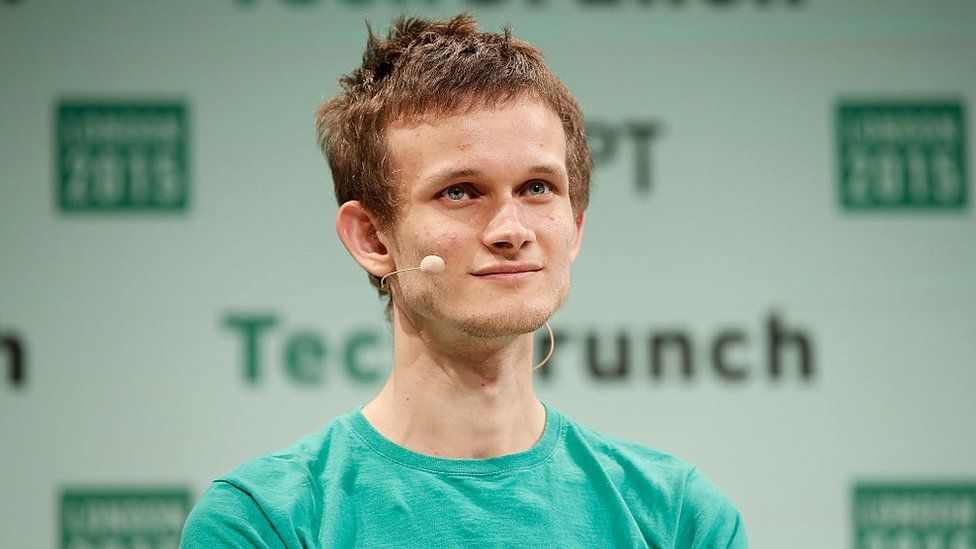 Founder of Ethereum Vitalik Buterin during TechCrunch Disrupt London 2015