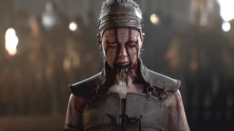 A screenshot of Hellblade