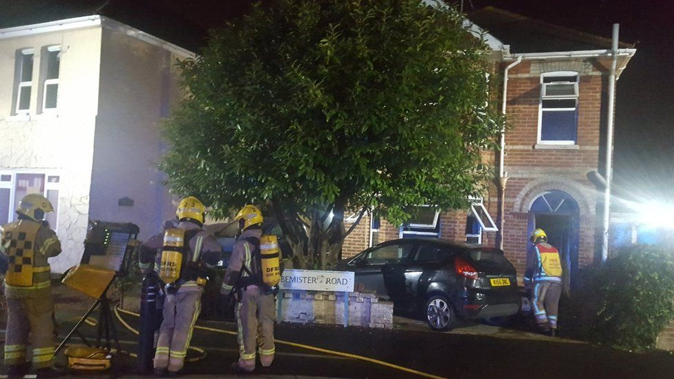 Fire at Bemister Road, Bournemouth