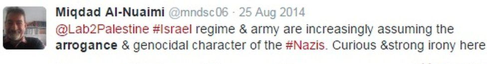 August 2014 tweet