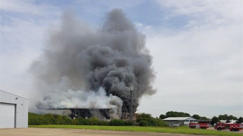 The fire at Southend Airport