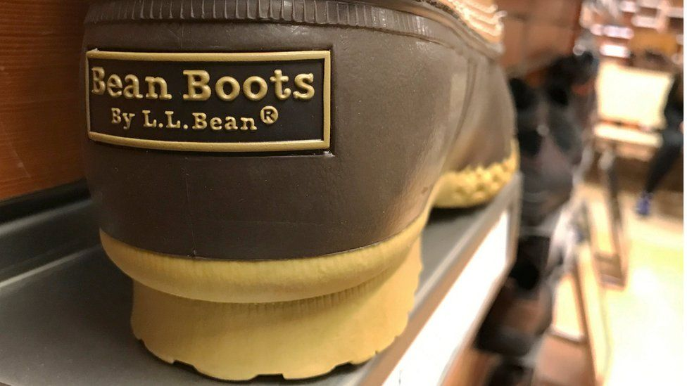 Signature L.L. Bean boots are displayed for sale at the L.L. Bean store in Burlington, Massachusetts, U.S. January 12, 2017