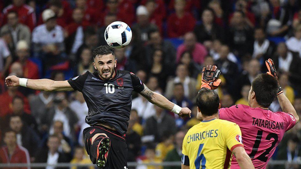 Albania goalscorer Armando Sadiku, 19 Jun 16
