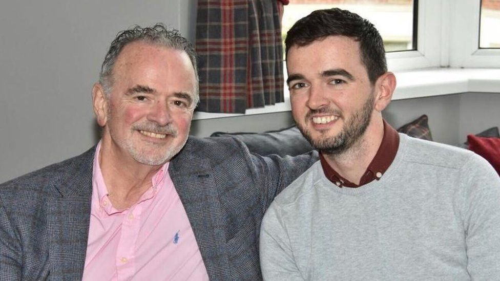 Harry McDaid with his son Sean