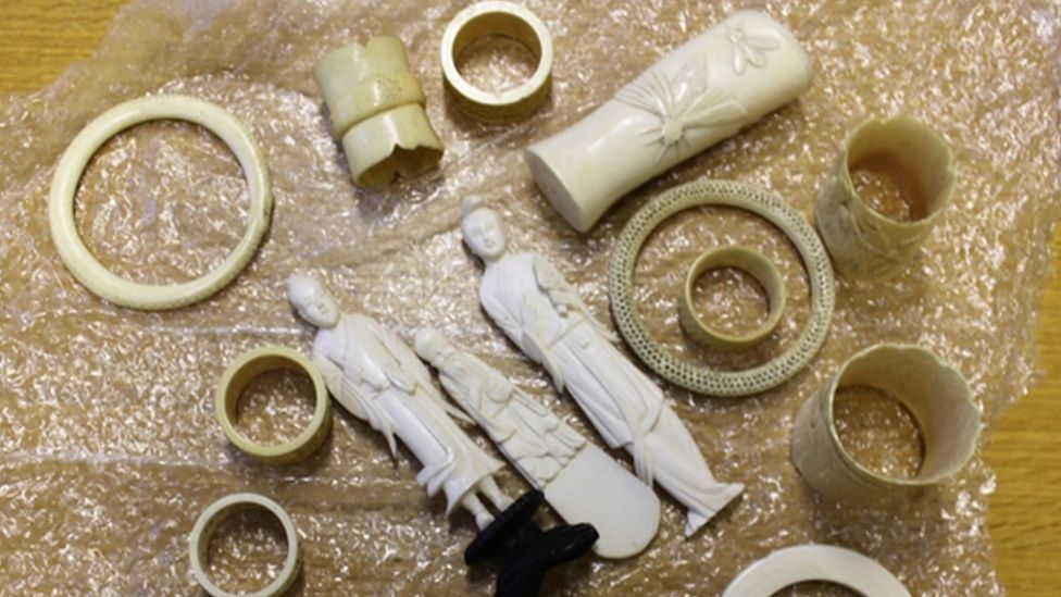 Some of the ivory items