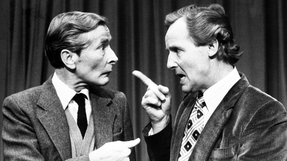 Kenneth Williams and Nicholas Parsons in 1981