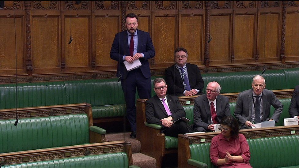 Colum Eastwood speaking in the House of Commons