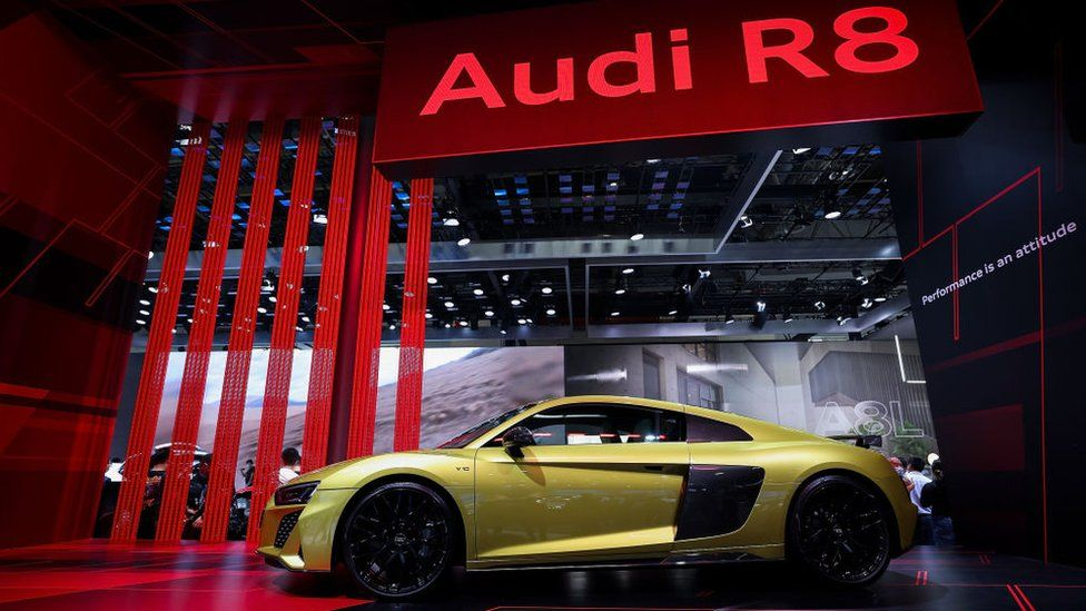 Audi car at auto show in Beijing