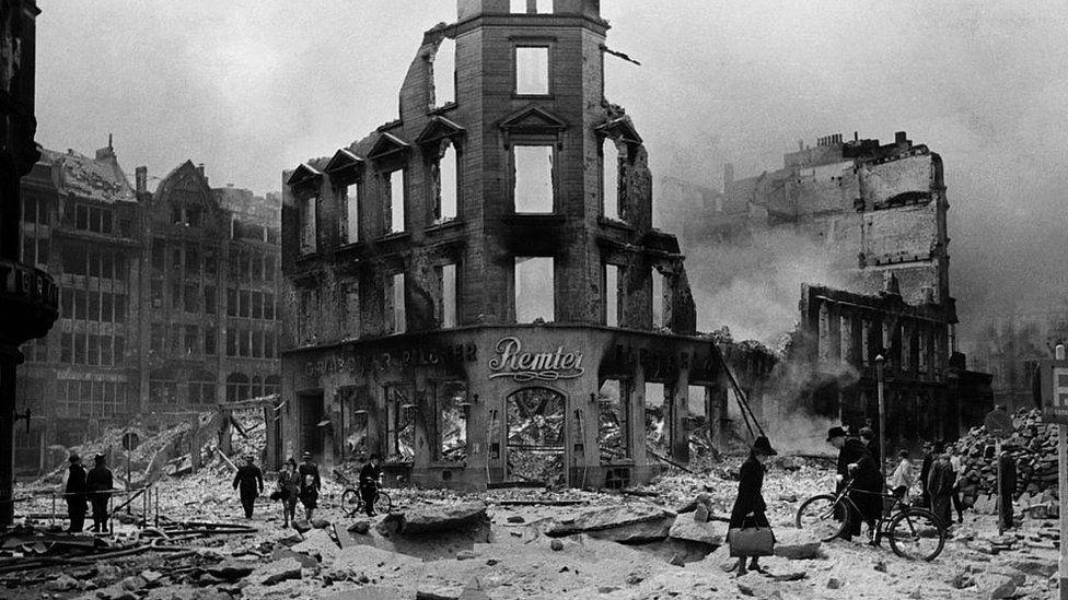 Bombed shops
