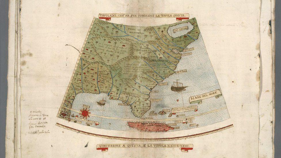 Aquí muestra la costa Este de Estados Unidos, Cuba... y parte del Golfo de México. (Foto gentileza de David Rumsey Map Collection).