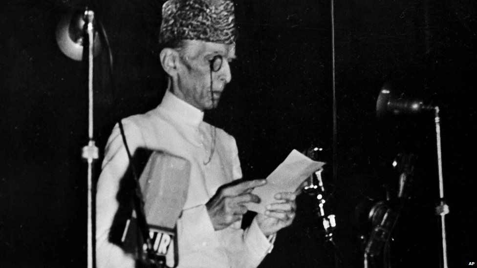 Pakistan's founder Mohammad Ali Jinnah, pictured in 1947