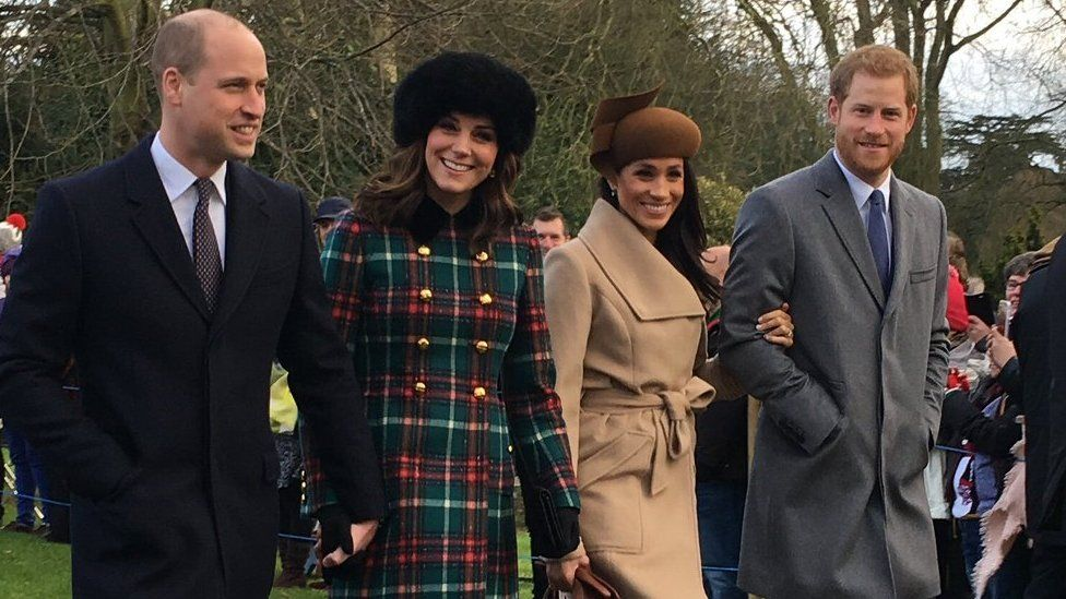 The Duke and Duchess of Cambridge and, Prince Harry and Meghan Markle