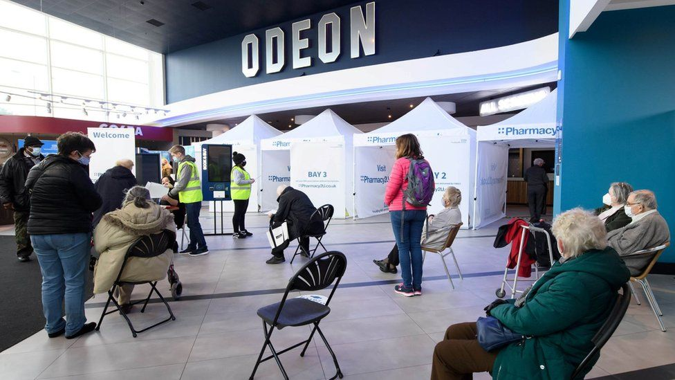 Vaccine centre at Odeon, Aylesbury