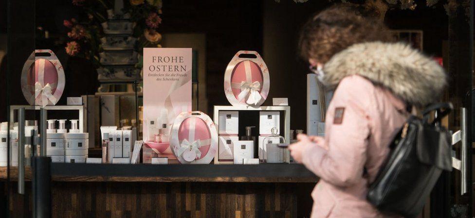 Easter display in a shop in Berlin