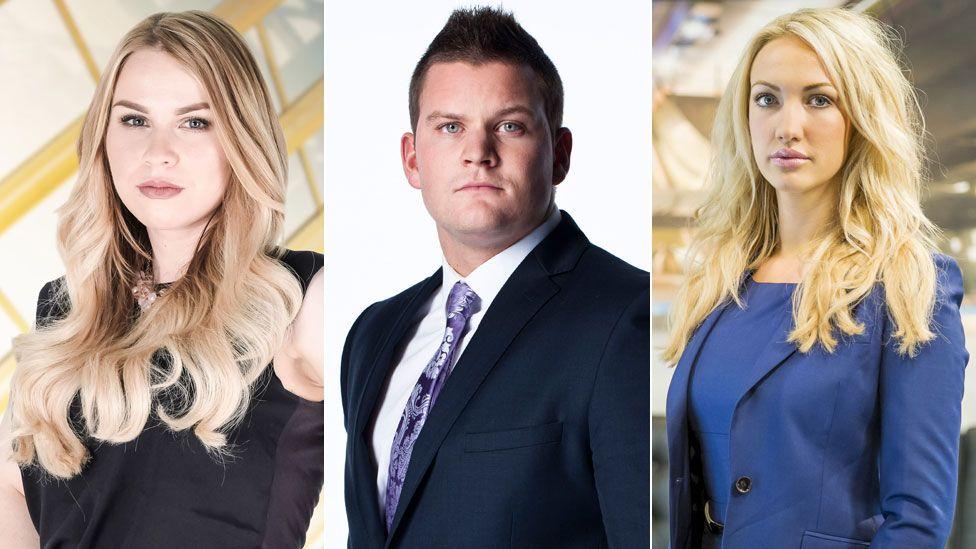 Alana Spencer, Ricky Martin and Leah Tatton