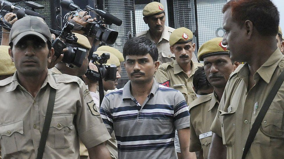 Delhi bus gang rape accused Akshay Thakur brought to Delhi High Court under high security for hearing on September 24, 2013 in New Delhi, India