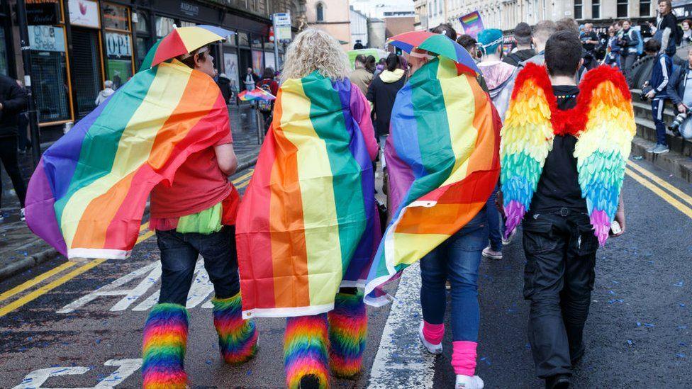 Pride march in Glasgow