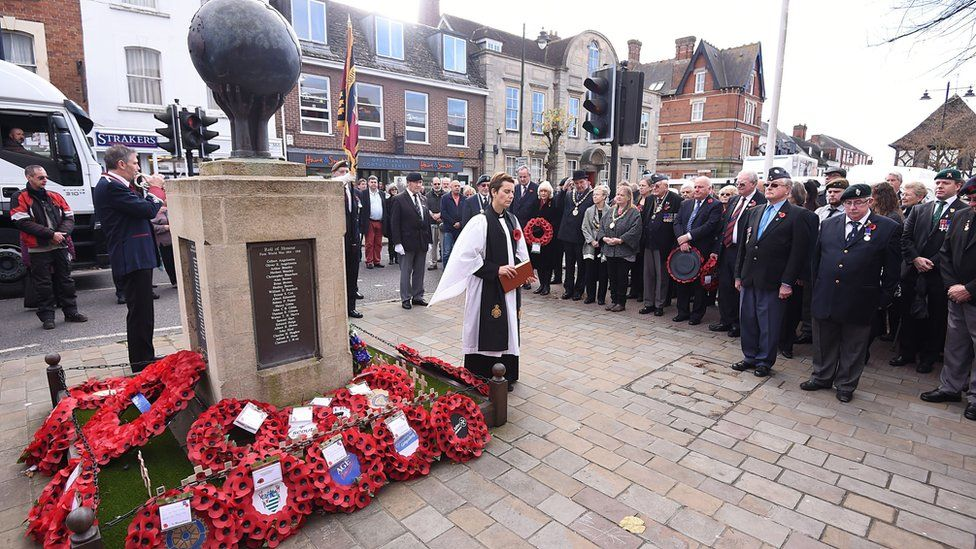 Royal Wootton Bassett on 11 November 2015