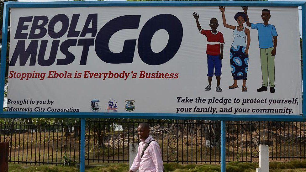 Ebola must go sign in Monrovia
