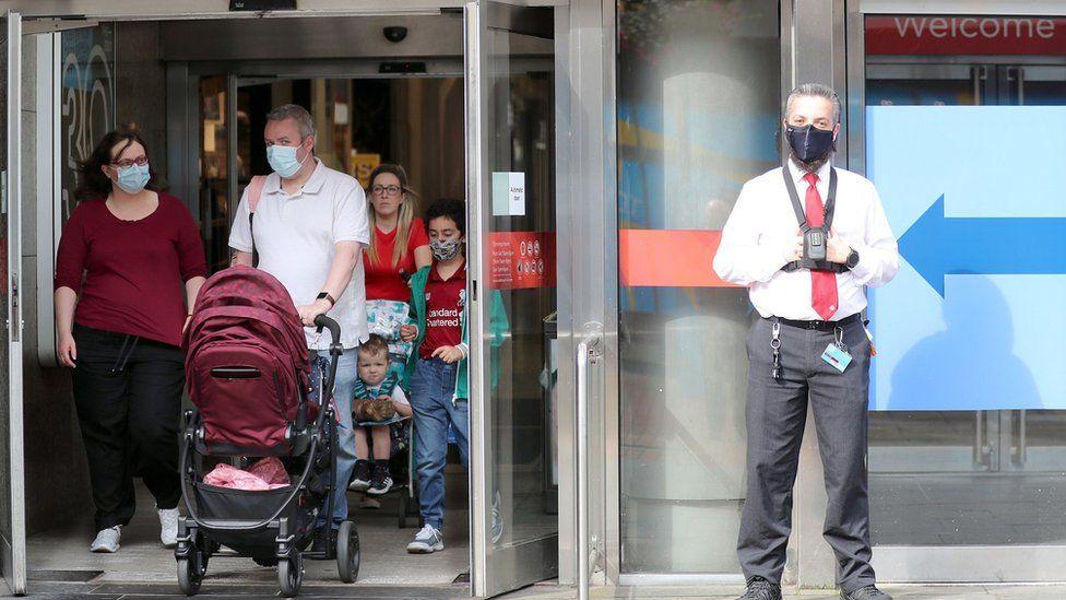 Shoppers in Belfast