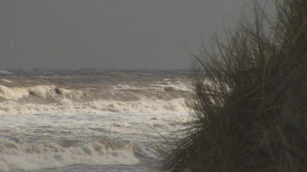 High seas at Hemsby on Saturday