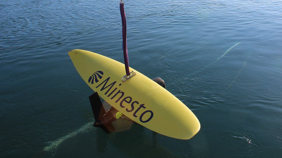 A Minesto 'kite' used to test the concept