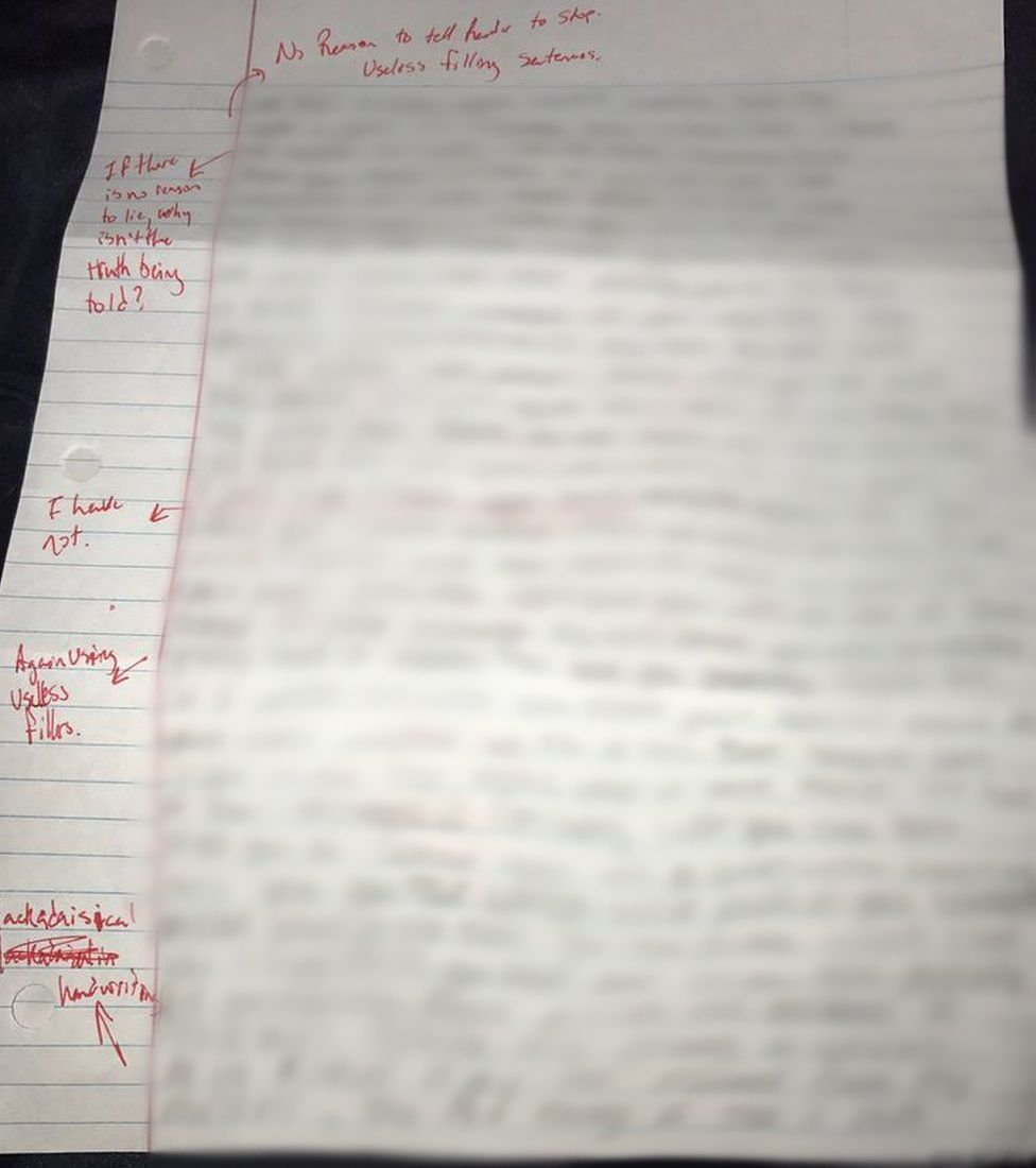 US student grades his ex girlfriend s apology letter and posts it