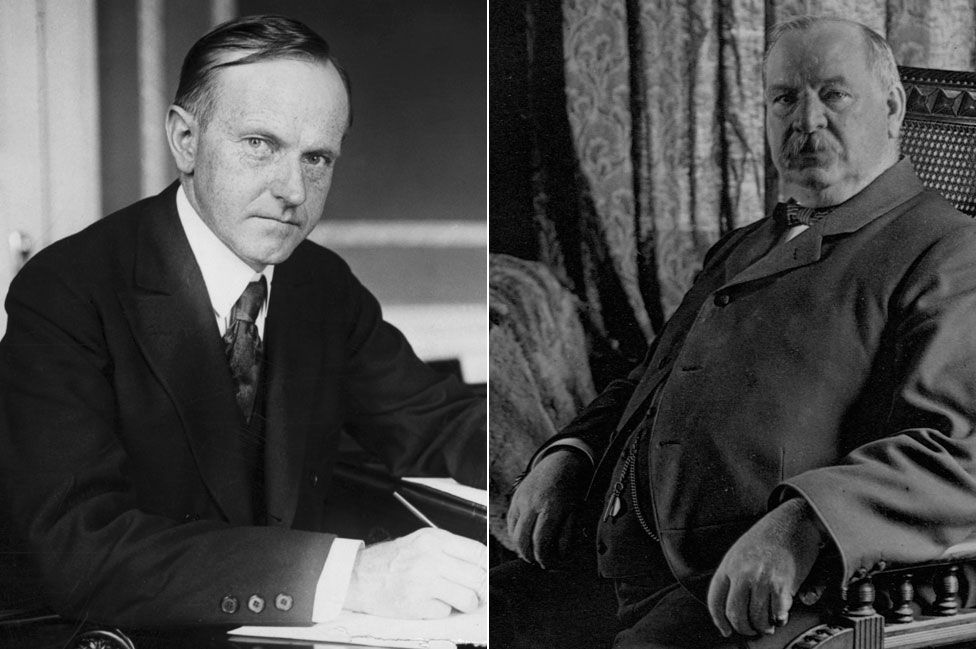 Calvin Coolidge and Grover Cleveland
