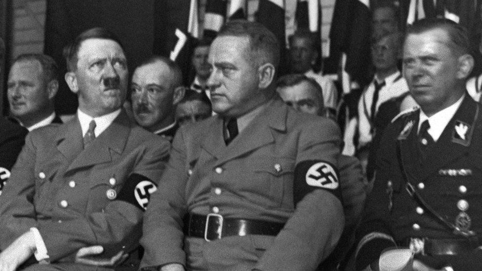 Мартін Борман з Адольфом Гітлером