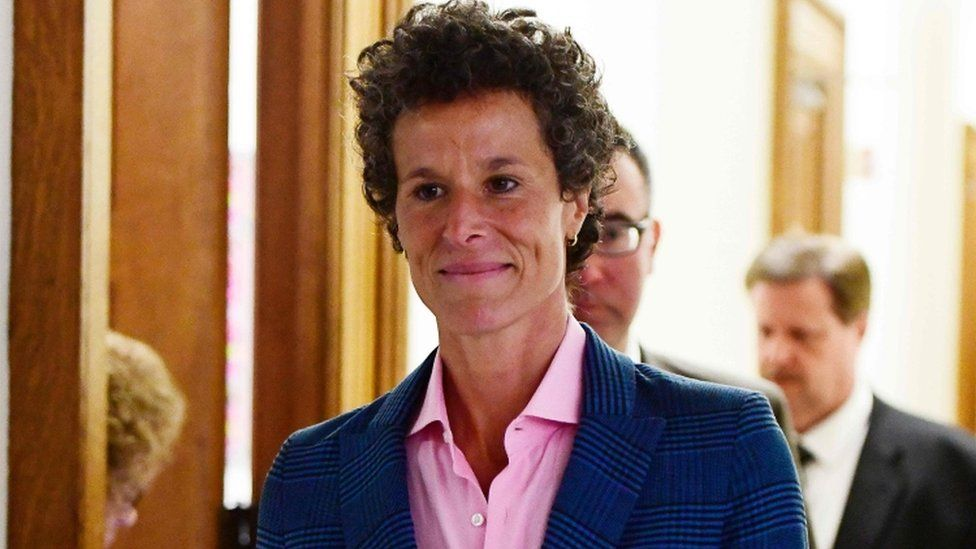 Andrea Constand pictured at court
