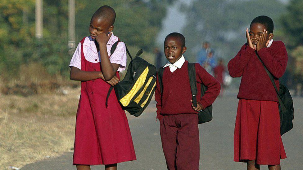 Children on their way to school in Zimbabwe - archive shot