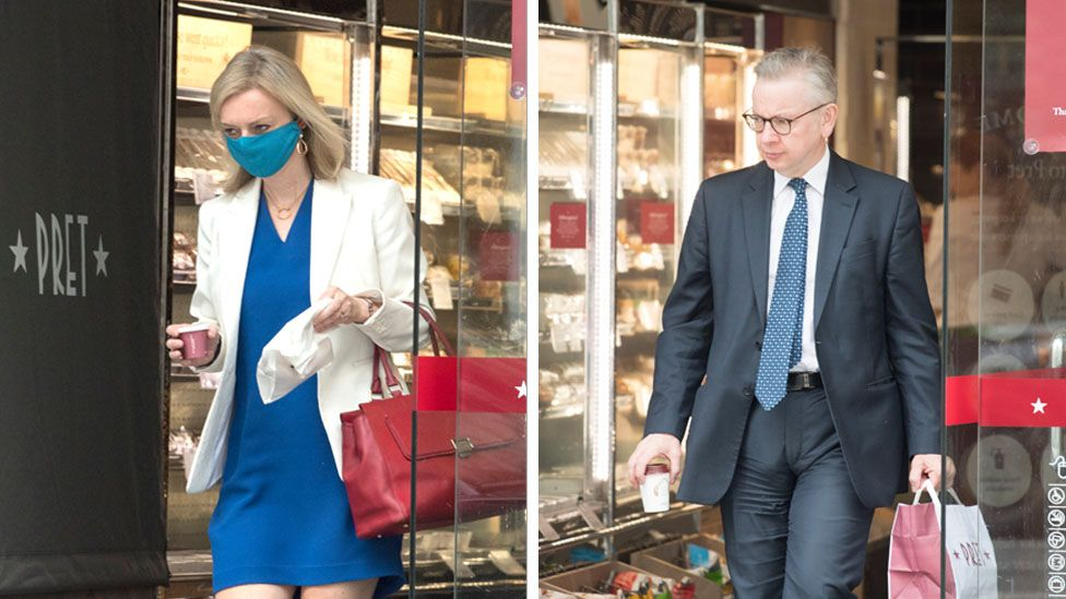 Liz Truss wore a mask - but Michael Gove went without