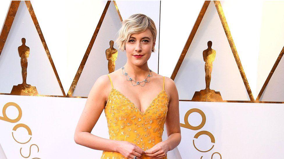 Greta Gerwig at the 2018 Oscars