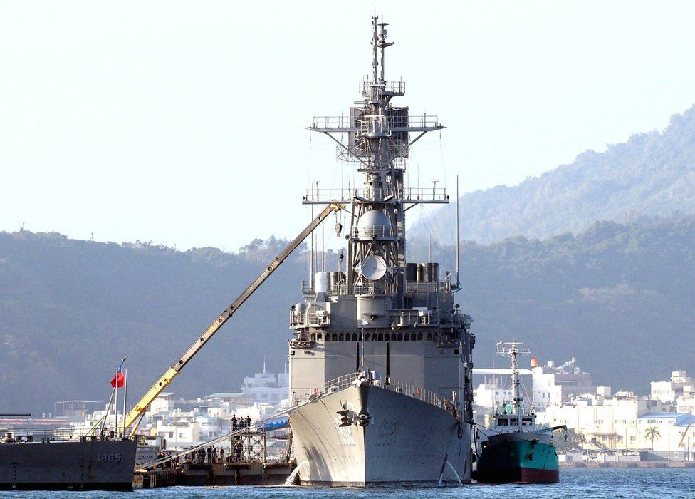 A file photo of a Taiwanese navy ship
