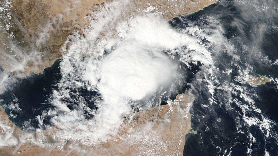 Nasa satellite photo shows Tropical Cyclone Megh in the Arabian Sea (7 November 2015)