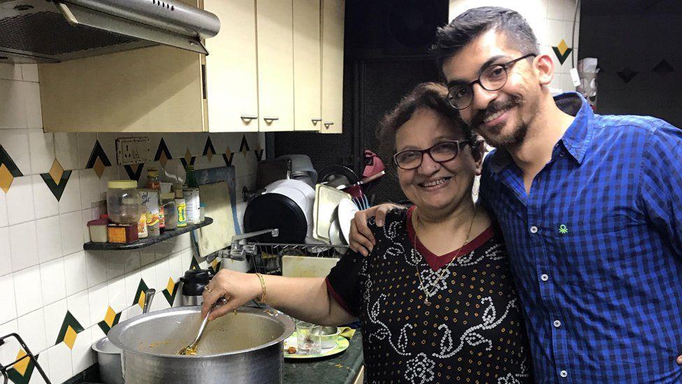 Munaf Kapadia and his mum Nafisa Kapadia